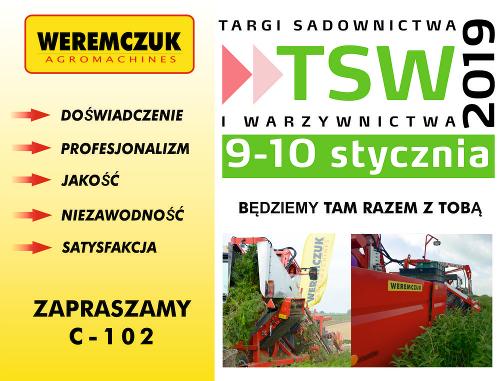 Maszyny do owoców i warzyw na targach TSW